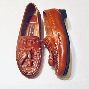 Johnston & Murphy | Leather Woven Loafers (8.5)